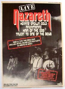 NAZARETH 1980 POSTER ADVERT RAZAMANAZ HAIR OF THE DOG