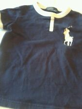 Boy Polo Ralph Lauren short sleeved shirt dark blue size 2T white trim