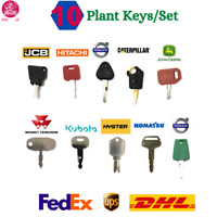 10 KEY SET Master Plant Key Ignition Set For Agricultural Heavy Plant Machinery