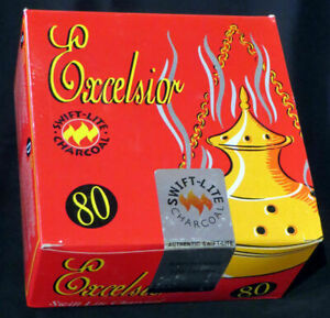 Excelsior Swift Lite coal for Incense Shisha Charcoal  Box - TRACKED DELIVERY