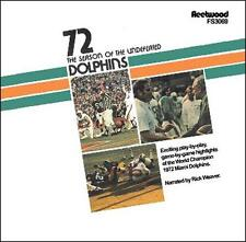 1972 Miami Dolphins 17-0 The Season of the Undefeated Dolphins CD NEW
