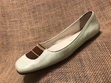 Women's Shoes RUPERT SANDERSON Loafer Flats Ballerina Leather Slip On Size 6.5