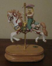 Breckenridge Designs Porcelain MUSICAL CAROUSEL Horse and Little Girl