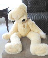 "27"" Kimberlys Bearied Treasure Bear Cream Fur with Suede Paws"