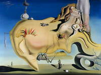 Salvador Dali The Great Masturbator Poster Reproduction Giclee Canvas Print