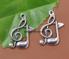 Wholesale 20pcs Tibetan Silver Musical Note Charms Pendants 21x12MM