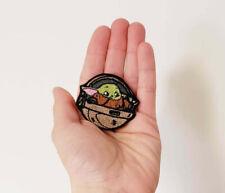 Cute Iron On Patch Baby Yoda