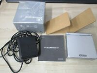 L15 Nintendo Gameboy Advance SP console Platinum Silver Japan GBA w/box x