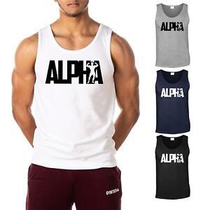 ALPHA - Men's Gym Vest | Bodybuilding Tank Top T-Shirt Stringer by GYMTIER
