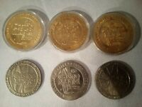 Casino Magic Gaming Tokens  ARGENTINA GREECE  & BAY ST LOUIS 6 Total $1, $5, $10
