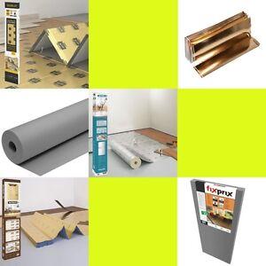 Trittschalldämmung für Laminat, Parkett, Vinyl, Designbeläge + Fußbodenheizung