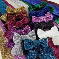 """Metallic Ribbon Bows, 3"""" Dancing Ballroom Bling With Tails  75mm wide x 4 Bows"""