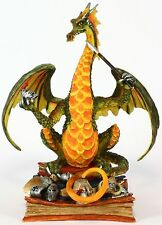 Twelfth Knight Bookwyrms Dragon Figurine Retired - Rare Andrew Bill Dragonsite
