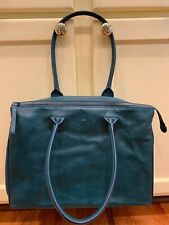 MyWalit Green Leather Purse Bag. Great Condition.Forest Green Teal Tote