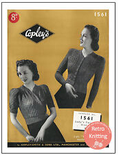 1940's Twin Set Vintage Knitting Pattern - Copy