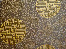 """Seidenstoff """"Glück"""" braun / gelb 110 cm breit Meterware"""