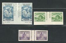 Usa: 1933; 3 Interesting cut Souvenir Sheet with intertext, mint. EBN030