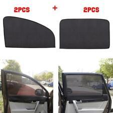 4pcs Magnetic Sun Shade UV Protection Curtains Car Windows Mesh Frontx2+Rearx2