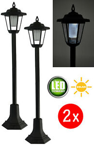 2x LED Solar Gartenlaterne Leuchte Standleuchte Wegeleuchte Gartenleuchte 83cm