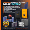 3kW Solar Off Grid System. AGM batteries, 24V/230V inverter. Solar Panels 1850W