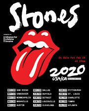 "ROLLING STONES ""NO FILTER TOUR 2020 USA / CA"" CONCERT POSTER -Tongue & Dates"