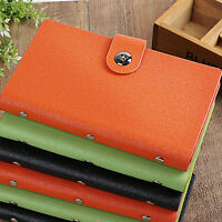 Leather 240/300 Slots Business/ID/Credit Card Holder Organizer, Magnetic Closure