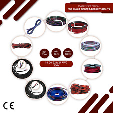 2, 4, 5 Pin Extension Cable Wire leads 18 AWG 20AWG 22AWG 24AWG For LED Lights