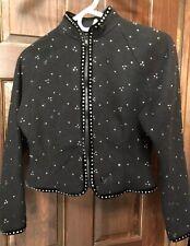 GK Elite Sportswear XS Extra Small Bedazzled Jeweled Fleece Jacket Skating Dance