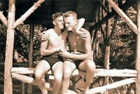 Vintage Gay Jungle Love Photo 227 Bizarre Odd Strange
