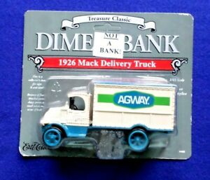 Vintage AGWAY Limited Edition #7 1926 Mack Delivery Truck Dime Bank The Ertl Co.