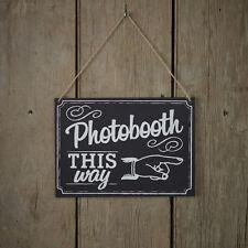 Photo Booth Schild 'This way' Hochzeit Vintage Foto Shabby Deko