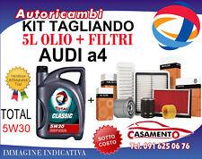 KIT TAGLIANDO AUDI A4 8w 1.4 110 KW DAL 5/2015 e 5 LITRI DI OLIO TOTAL 5W30