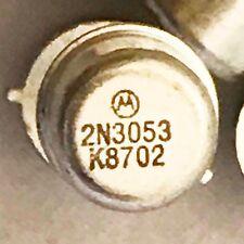 (10 pcs) 2N3053 Transistor General Purpose BJT NPN 40 Volt 0.7 Amp 100MHz NOS
