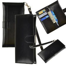 New PU Leather Wallet Purse Flip Cover Carrying Pouch Wristlet For Iphone 7 Plus