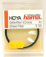 Hoya 55mm Gitterfilter Cross 4 x  Filter