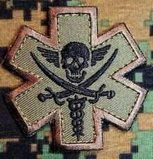PIRATE MEDIC TACTICAL EMT EMS US MILITARY USA ARMY MORALE FOREST VELCRO PATCH