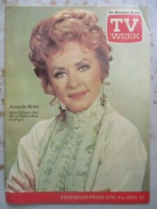 TV Week - Philadelphia Inquirer Listings Mag 8/6/1972 Amanda Blake - Gunsmoke