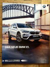 Prospekt Brochure BMW F48 X1 sDrive xDrive 18i 20i 25i 18d 20d 25d 2 2017