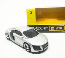 Audi R8 V10 Silver Diecast Car Scale 1/64 (Approx 2.5 inches) RMZ City