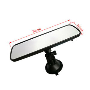 360°Clear Car Truck Wide Flat Interior Rear View Rearview Mirror Suction Cup Set