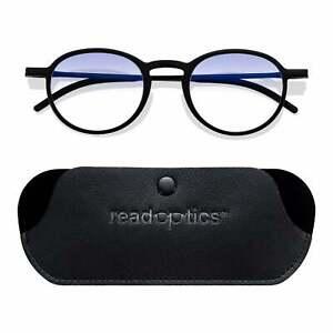 Blue Light Blocking Stylish Round Reading Glasses Computer Gaming UV Filter