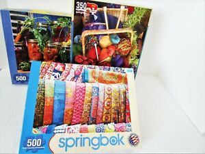 "Lot 3 Springbok Puzzles 350-500 Pc Jigsaw 18"" x 24"" #10"
