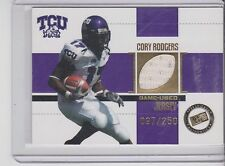 2006 Press Pass Cory Rodgers Jersey card TCU Horned Frogs 97/250