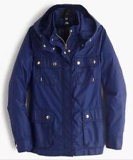 Nwt J Crew Downtown Field Jacket Coat Hood w/ Zip Out Vest ~ Sz Xxxs ~ Blue