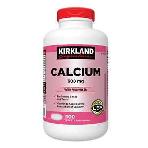 Kirkland Signature Calcium 600 mg. with Vitamin D3, 500 Tablets