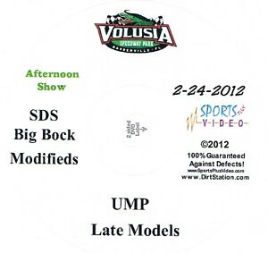 UMP Late Models Afternoon Show DVD From Volusia Speedway Park 2-24-2012