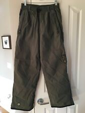 COLUMBIA OLIVE GREEN LINED SNOW OUTDOOR PANTS RUGGED DESIGN SZ MENS S NYLON