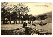 CPA 73 Savoie Aix-les-Bains Le Petit Port Le Lac du Bourget animé