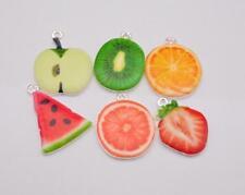 New 12pcs Strawberry fruit mix Metal Charm pendants DIY Jewellery Making crafts
