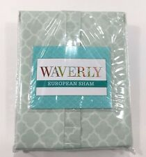 "Waverly European Sham Fleuretta 26/26"" 100% Cotton Green Trellis Traditional"